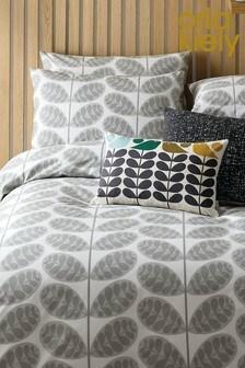Orla Kiely Grey Botanica Stem Pillowcases