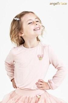 Różowa bluzka ze skrzydłami z kryształków Angels Face