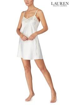 Атласная женская рубашка с кружевной отделкой Lauren Ralph Lauren®
