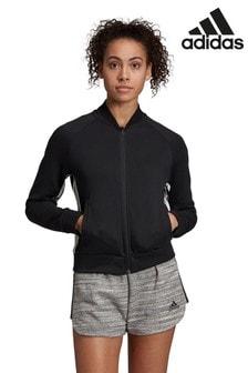 Черная куртка с 3 полосками adidasMust Have