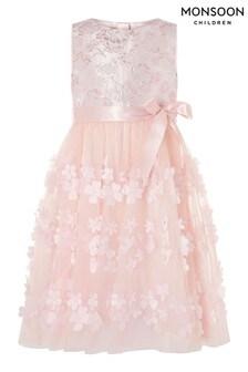 Monsoon Ivy Kleid mit Jacquard-Blüten, Pink