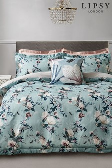 Lipsy Lotus Teal Floral Duvet Cover And Pillowcase Set