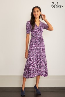 فستان ملفوف جيرسيه أرجوانيLavinia منBoden