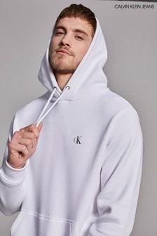 سترة بقلنسوة بيضاء أساسيةNew Iconic منCalvin Klein Jeans