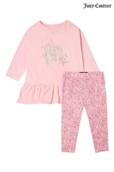 Juicy Couture Leopard Star Dress & Legging Set