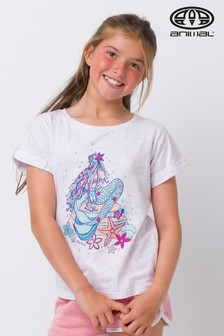 Animal White Mermaid Deluxe Graphic T-Shirt