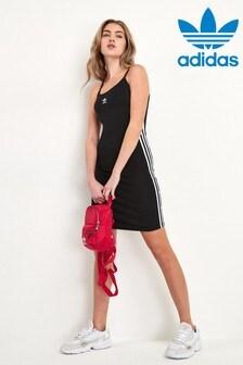 فستان اوريجينالز أسود بنمط بلوزة طويلة بدون أكمام من adidas