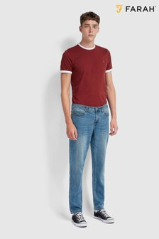 Farah Blue Daubeney Stretch Denim Jeans