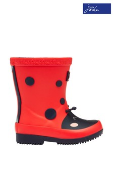 Joules Red Printed Baby Wellies
