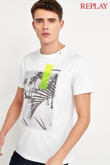 Replay® Tropical Print T-Shirt