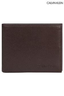 Portefeuille deux volets Calvin Klein Vital marron
