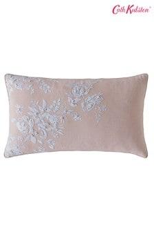 Cath Kidston粉色復古繡花花卉棉質靠墊