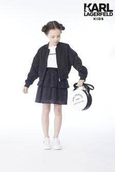Karl Lagerfeld Kids Black Frill Skirt