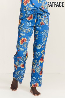 FatFace Blue Floral Viscose Pants