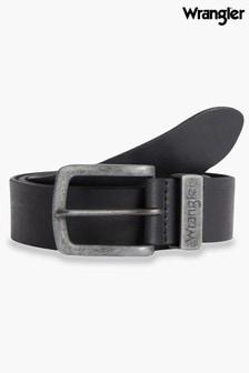 Wrangler Ledergürtel mit Metallschlaufe, Braun