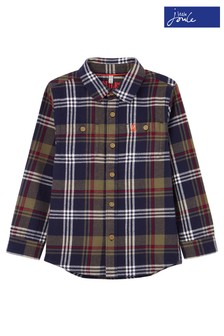 Joules Blue Hamish Brushed Check Shirt
