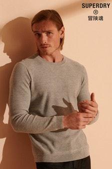 Texturovaný svetr Superdry Supima ke krku