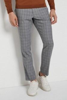 Суженные книзу узкие фактурные брюки