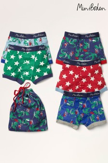Mini Boden Blue Boxers Five Pack