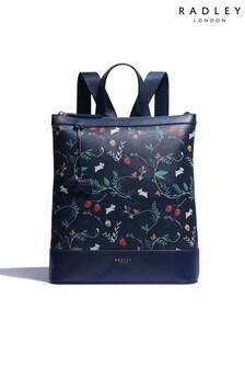 Radley London Whimsical Floral Medium Zip Top Backpack