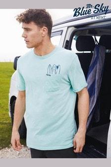 Mr Blue Sky Organic Cotton Graphic T-Shirt