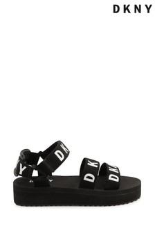 DKNY Black Logo Sandals