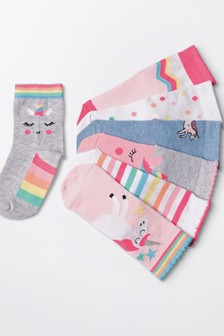 7 Pack Unicorn Socks