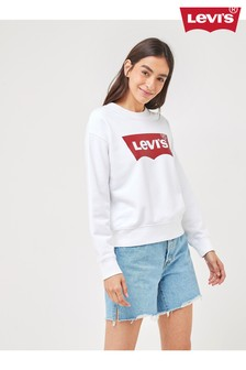 Levi's® Sweatshirt mit Rundhalsausschnitt und Fledermaus-Logo