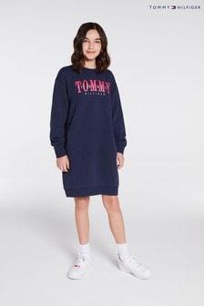 Tommy Hilfiger Sweatshirtkleid mit Grafik, Blau