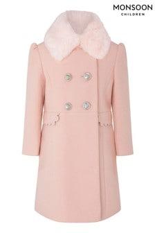 Monszun rózsaszín fésűkagyló kabát