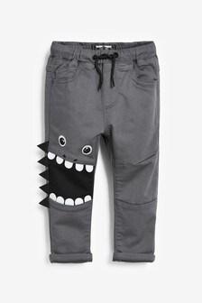 Трикотажные брюки без застежки (3 мес.-7 лет)