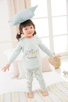Трикотажная пижама с аппликацией в виде кролика  (9 мес. - 8 лет)