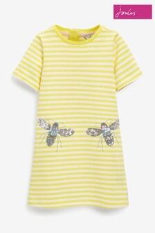 Joules Rosalee A-Linien-Kleid im künstlerischen Design, Gelb