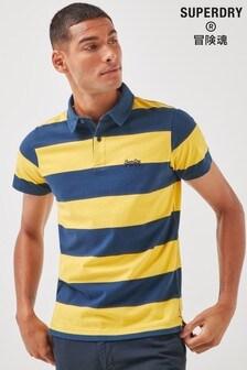 Superdry Organic Cotton Academy Stripe Polo Shirt