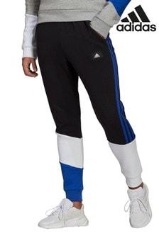 adidas Black/Navy Colourblock Joggers