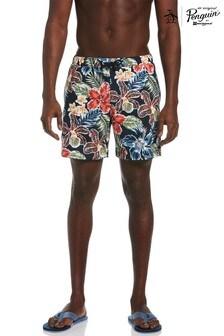Original Penguin Blue Floral Swim Shorts