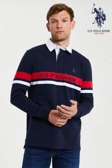 U.S. Polo Assn. Blueplaced Stripe Rubgy Shirt