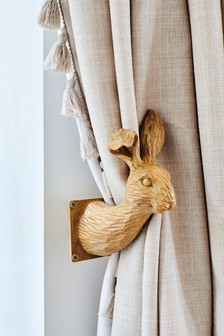 Set of 2 Bunny Curtain Holdbacks