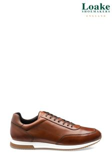 Loake Tan Bannister Leather Trainers