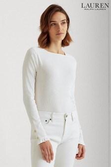 Lauren Ralph Lauren® Ruffle Cuff Quenby Jersey Top