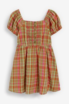 Gesmoktes Kleid mit Karomuster (3-16yrs)