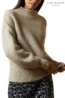 סוודר של Ted Baker דגם Gorrga בסריגה עבה עם דיטייל תפרים