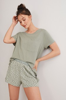 Pyjama short en coton mélangé