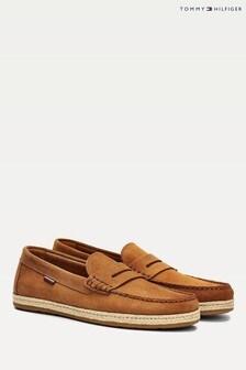 נעלי אספדריל שלTommy Hilfiger דגםDrivers מזמש בצבע חום