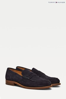 Tommy Hilfiger Blue Suede Loafers