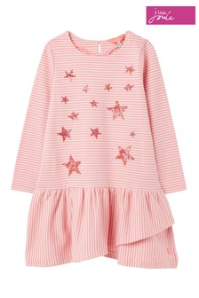 Joules Pink Roselyn Frill Hem Dress
