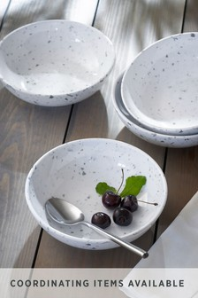Set of 4 Terrazzo Effect Melamine Bowls