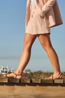 Emma Willis Belted Shorts