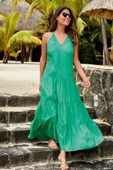 فستان ماكسي طبقات