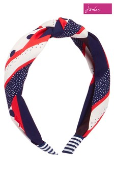 Joules Blue Lovett Printed Headband